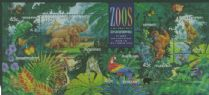 AUS SGMS1484 Australian Zoos, Endangered Species miniature sheet with Brisbane overprint